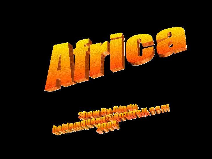 Africa, Amb MúSica