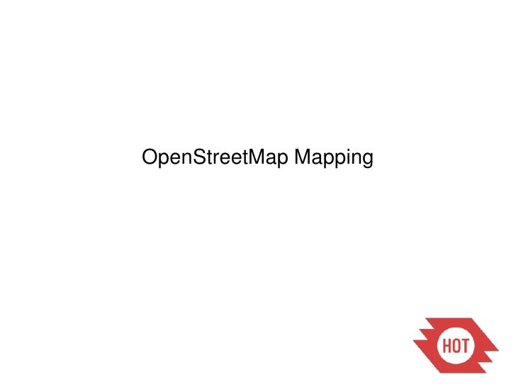 OpenStreetMapMapping<br />