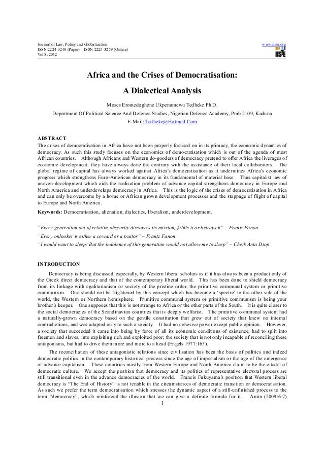 Journal of Law, Policy and Globalization                                                                      www.iiste.or...
