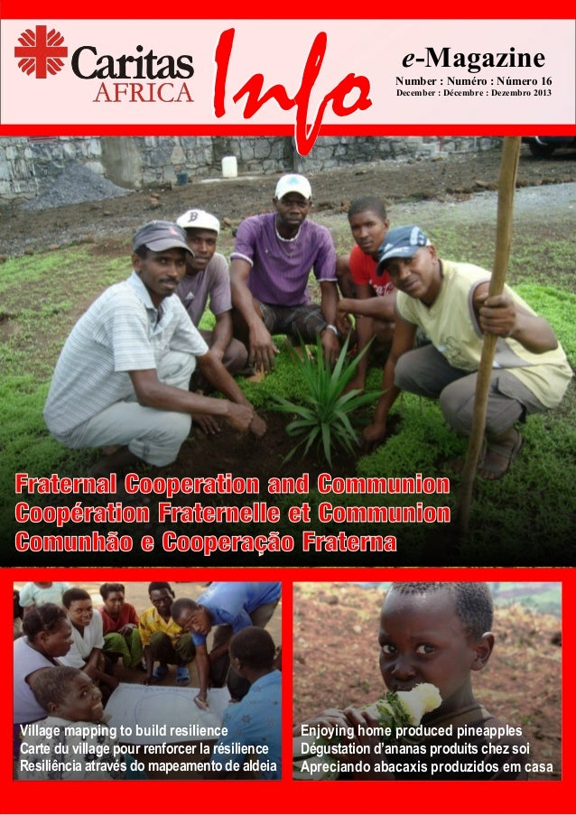 Info  e-Magazine Number : Numéro : Número 16 December : Décembre : Dezembro 2013  Fraternal Cooperation and Communion Coop...