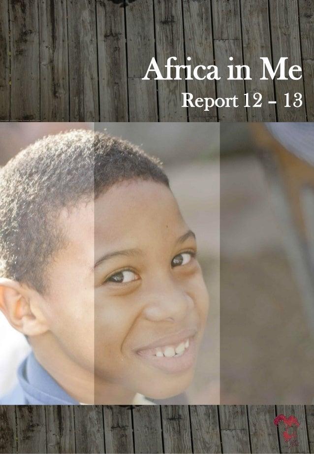 Africa in me  report 12 13