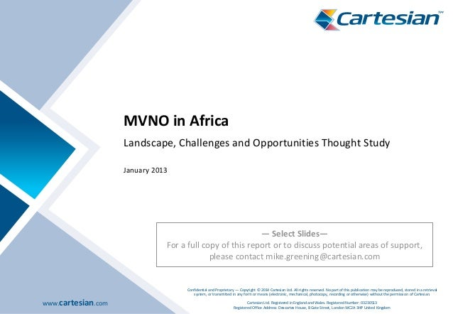 MVNO in Africa: Landscape, Challenges and Opportunities