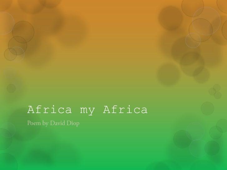 Africa my africa poem