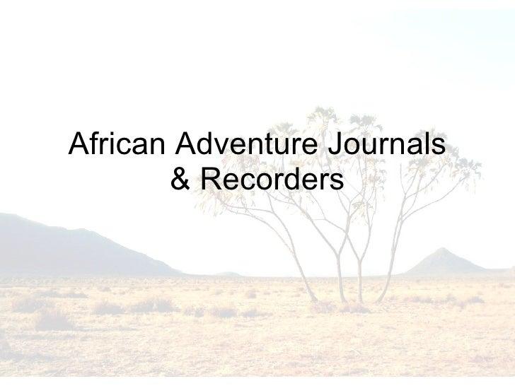 African adventure journals