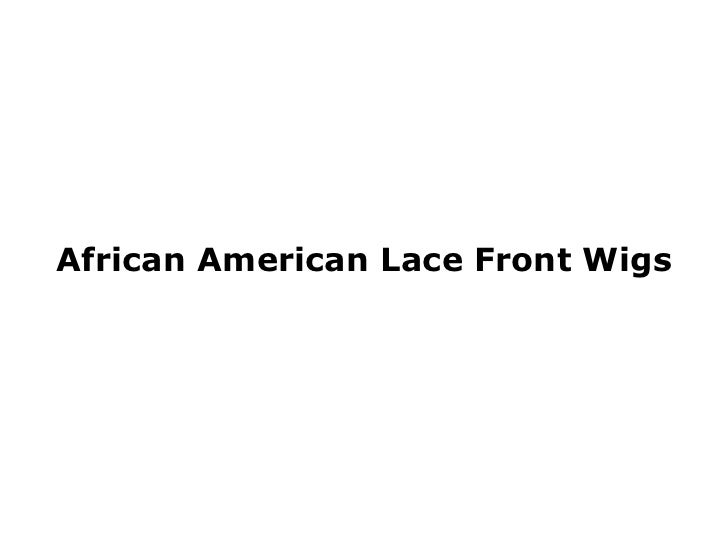 African American Lace Front Wigs