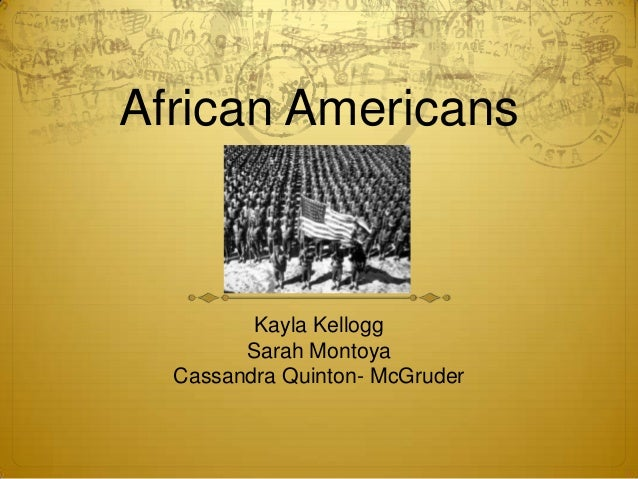 African americans final