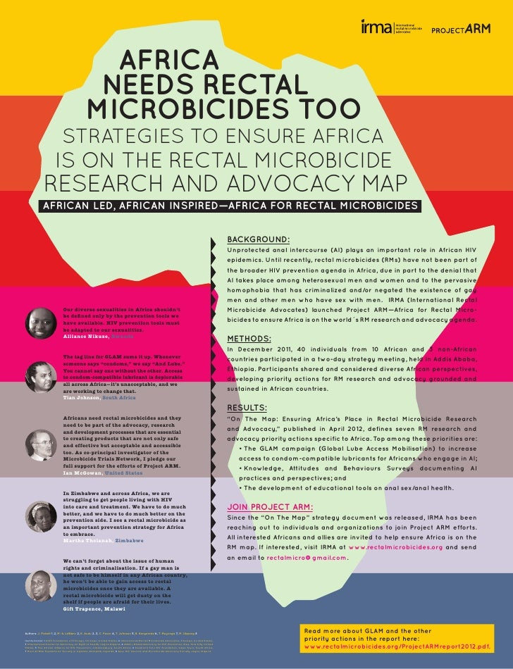 AFRICA                                             NEEDS RECTAL                                            MICROBICIDES TO...