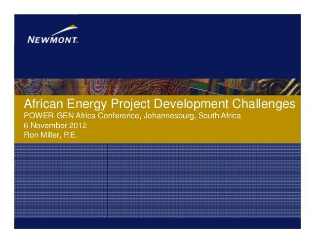 African energy project development challenges   power gen africa 092012