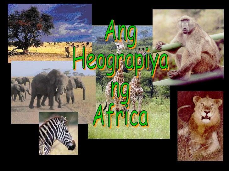 Ang  Heograpiya ng Africa