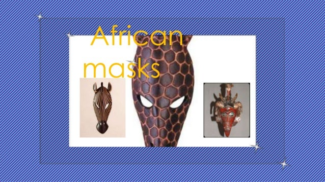 Features of African masks