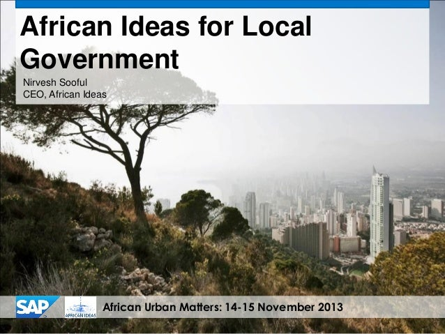 African Urban Matters - African Ideas - Connected Cities