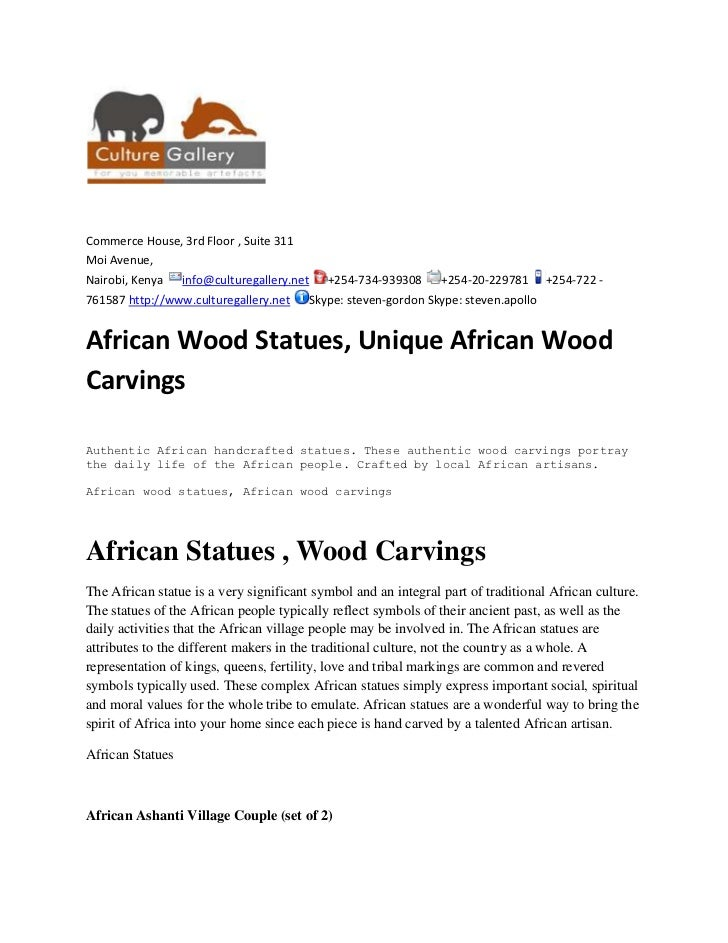 African wood statues, unique african wood carvings