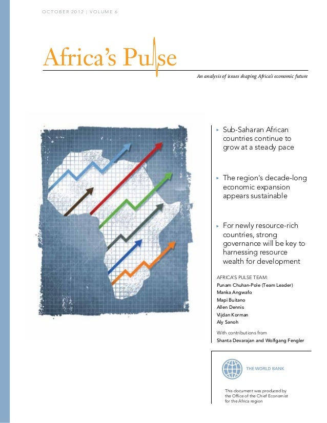 OCTOBER 2012 | VOLUME 6                          An analysis of issues shaping Africa's economic future                   ...