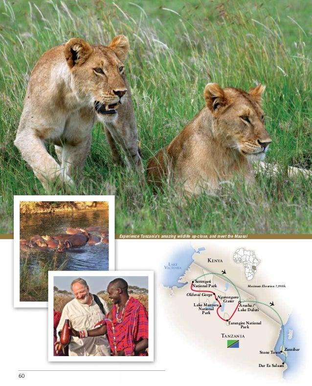 Experience Tanzania's amazing wildlife up-close, and meet the Maasai                                                   K E...