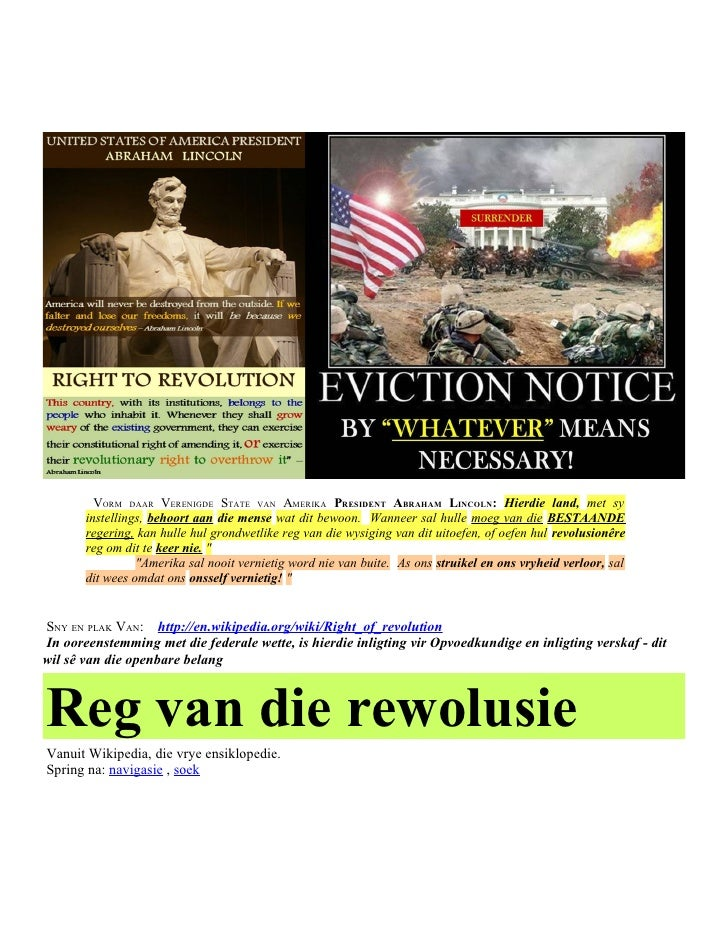 Afrikaans   Right of REVOLUTION & Political CORRUPTION
