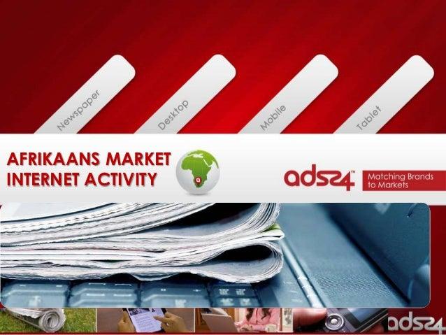 AFRIKAANS MARKETINTERNET ACTIVITY