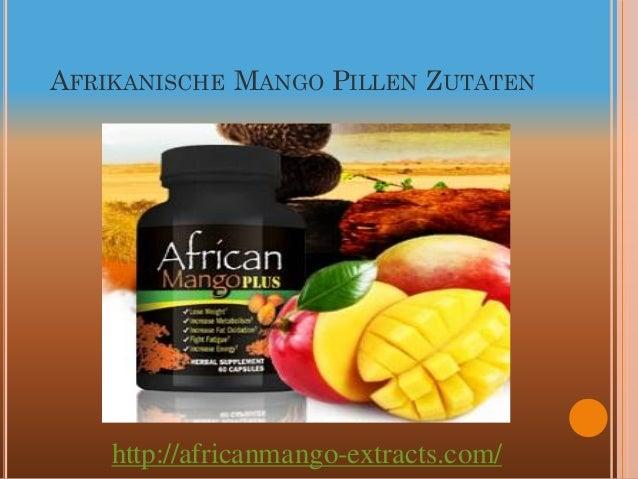AFRIKANISCHE MANGO PILLEN ZUTATEN    http://africanmango-extracts.com/
