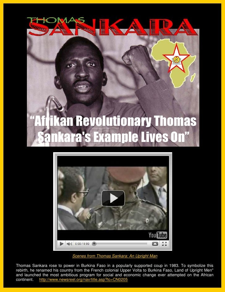 Afrikan Revolutionary Thomas Sankara's Example Lives On