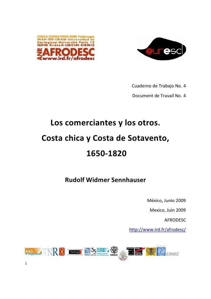 Afrodesc cuaderno NO. 4: Los comerciantes y los otros Costa Chica 1650-1820