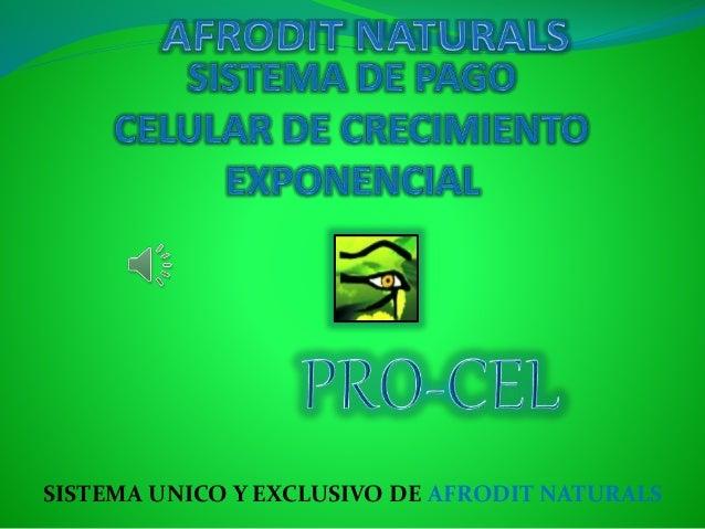 SISTEMA UNICO Y EXCLUSIVO DE AFRODIT NATURALS