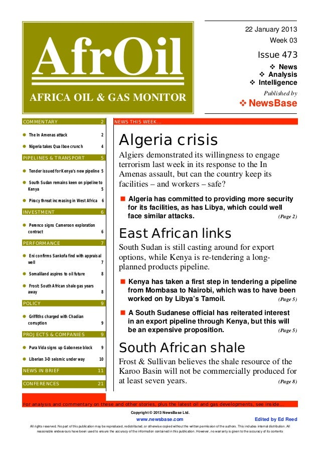 AfrOil - oil & gas news for Africa
