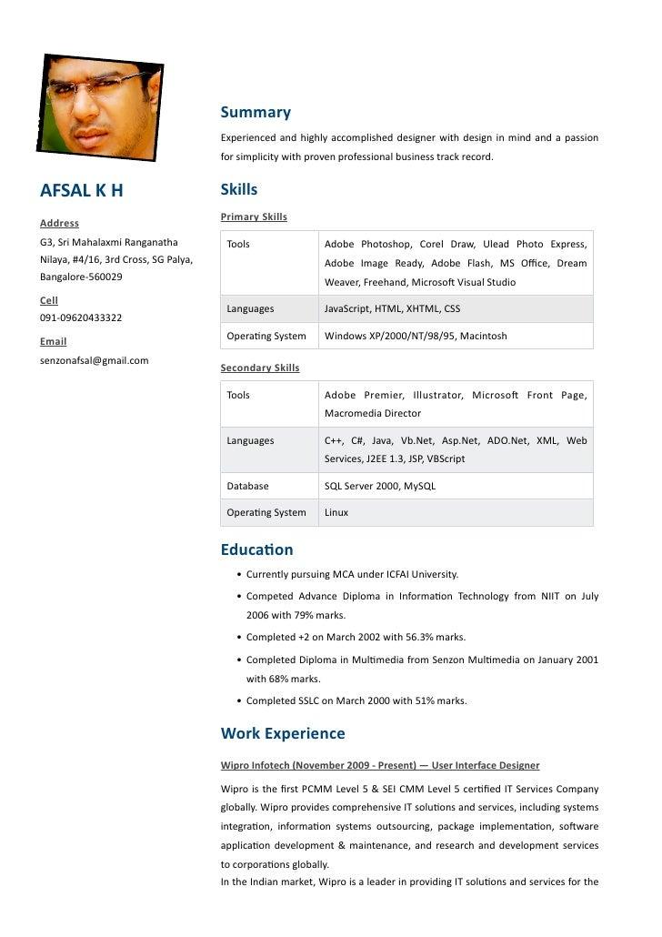 Afsal Resume