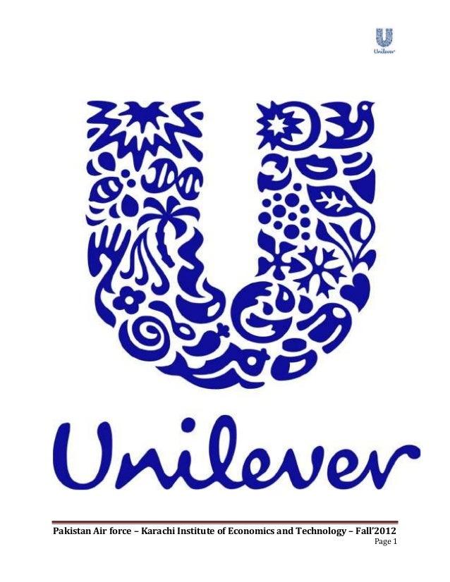Report on Unilever Pakistan