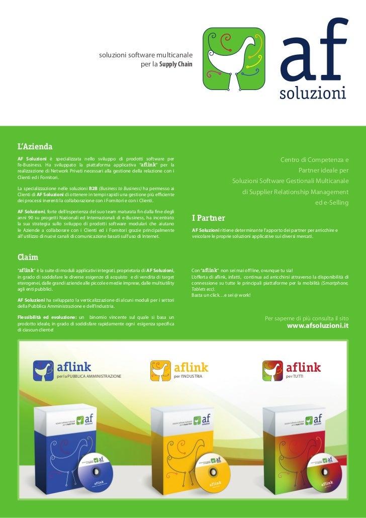 soluzioni software multicanale                                                        per la Supply ChainL'AziendaAF Soluz...