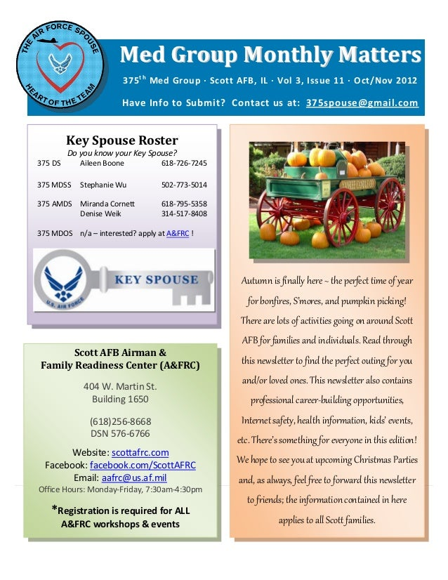 Med Group Monthly Matters                        375 t h Med Group ∙ Scott AFB, IL ∙ Vol 3, Issue 11 ∙ Oct/Nov 2012       ...