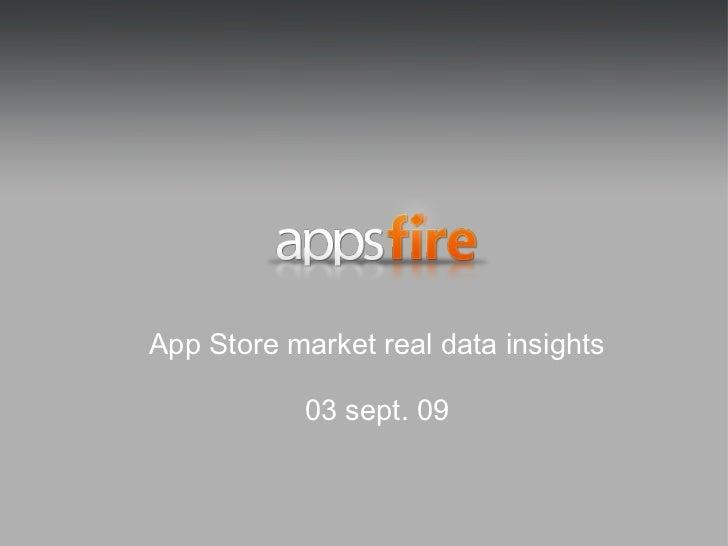 App Store market real data insights 03 sept. 09