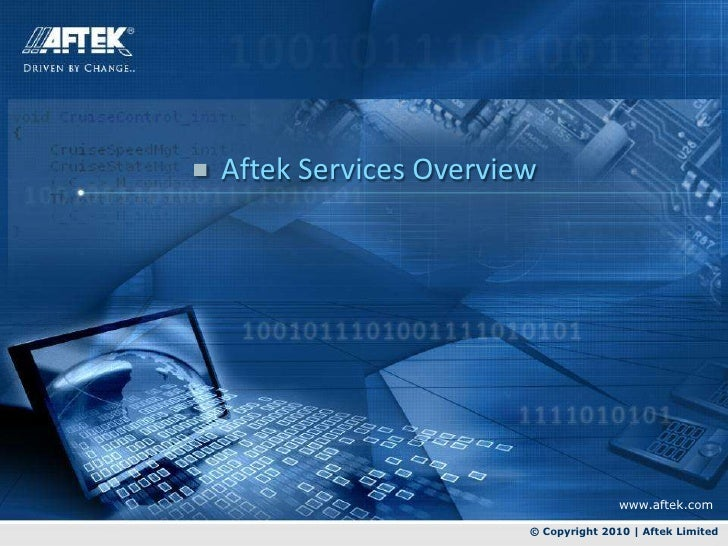 Aftek services overview