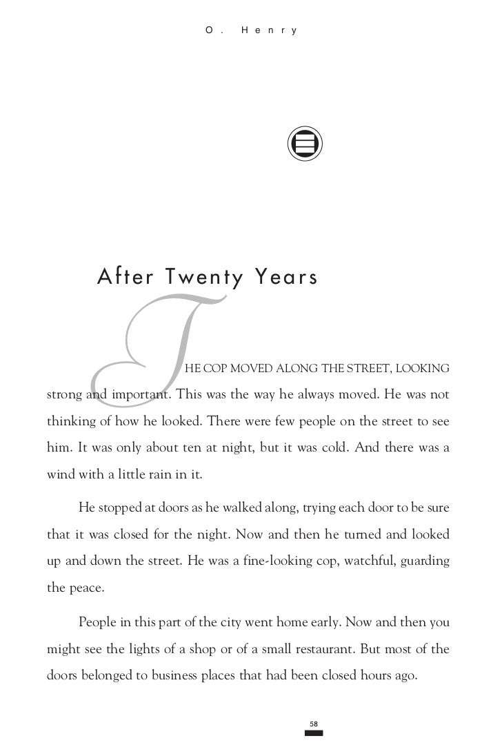 After twenty-years