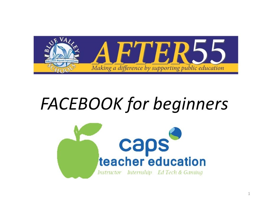 FACEBOOK for beginners                         1