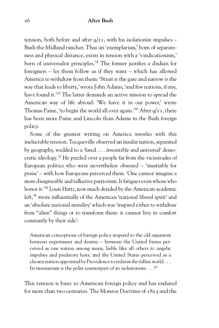 americas foreign policies essay How would you characterize american foreign policy during most of the 19th   they should write a 1-2 page essay explaining what they learned and what.