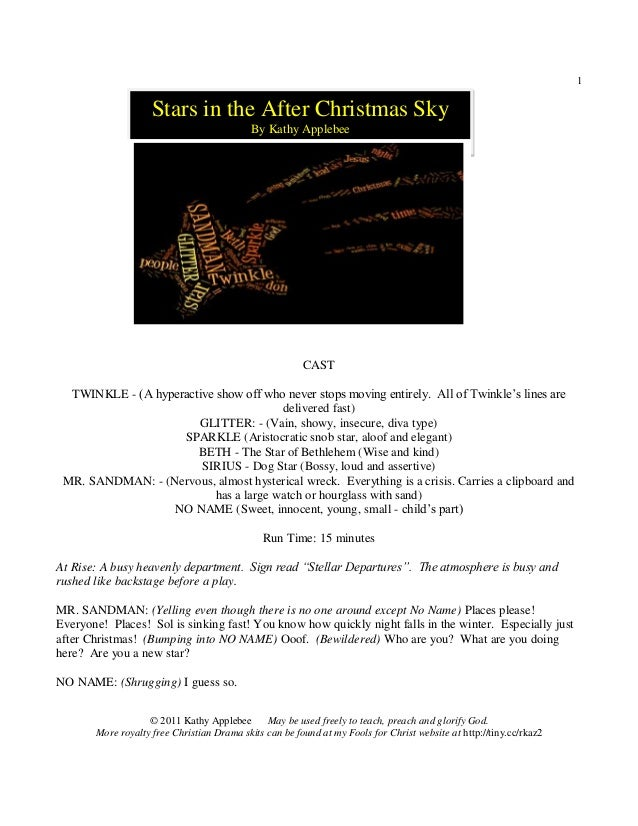 1                    Stars in the After Christmas Sky                                            By Kathy Applebee        ...