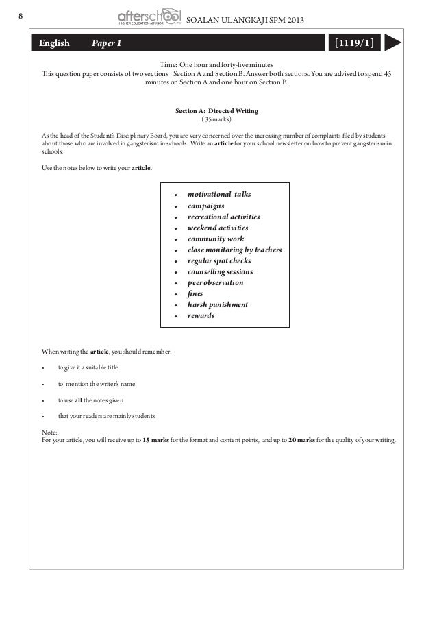 spm 2011 english paper 1 directed writing