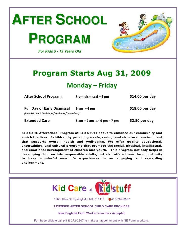Kid Care After School Program 2009