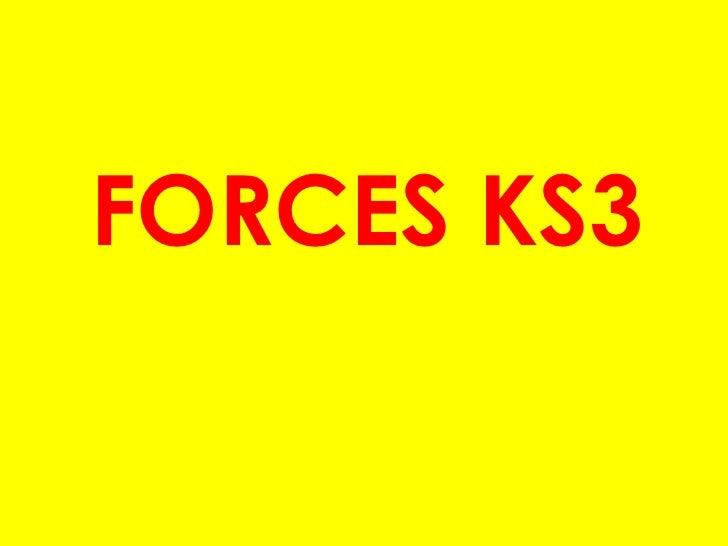 FORCES KS3<br />