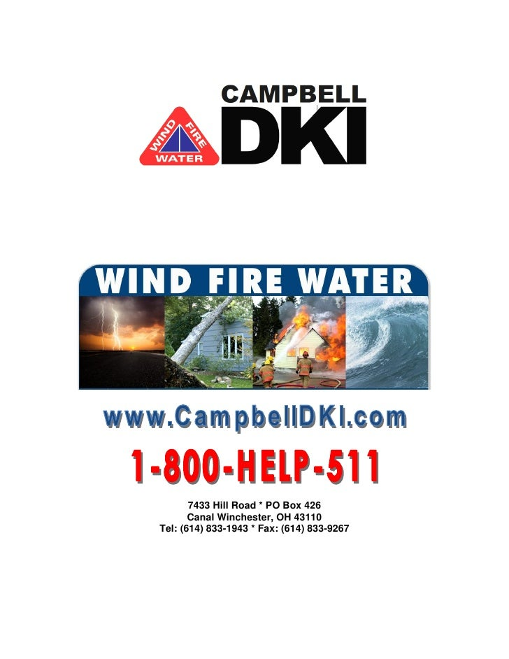 7433 Hill Road * PO Box 426        Canal Winchester, OH 43110 Tel: (614) 833-1943 * Fax: (614) 833-9267