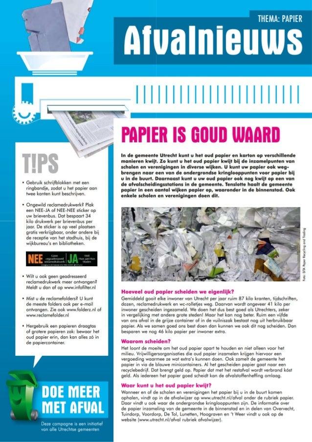 Afvalnieuws   papier