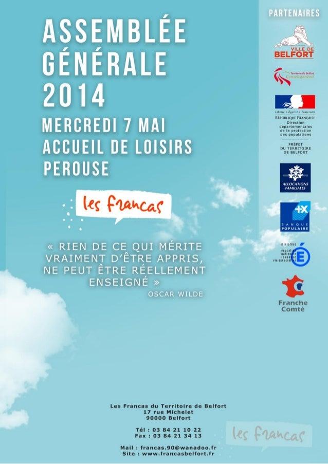 Francas Du Territoire de Belfort : Assemblée Générale 2014