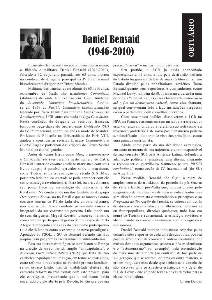 Daniel Bensaid (1946-2010)