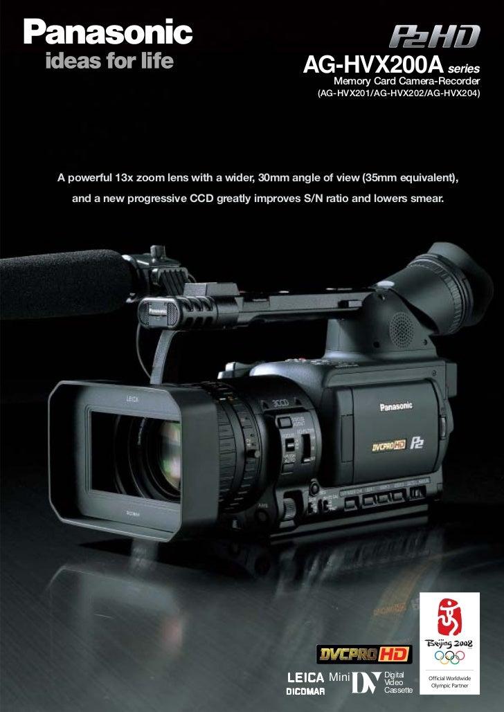 AG-HVX200A series                                                Memory Card Camera-Recorder                              ...