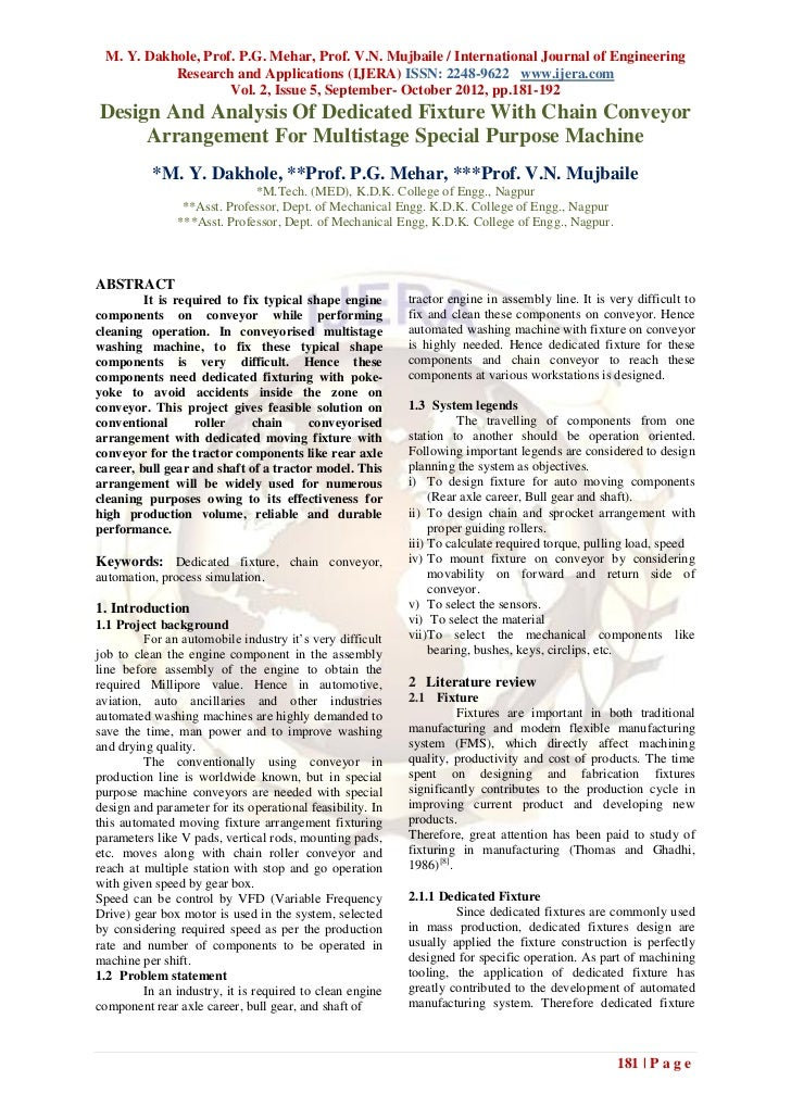 M. Y. Dakhole, Prof. P.G. Mehar, Prof. V.N. Mujbaile / International Journal of Engineering           Research and Applica...