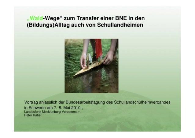 """AG3 """"Der Wald als Lernort für Bildung für nachhaltige Entwicklung"""""""