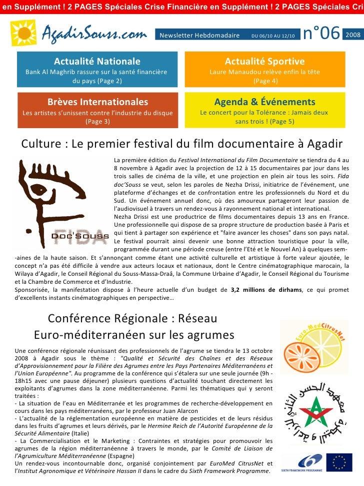 Agadirsouss Newsletter Hebdo N06