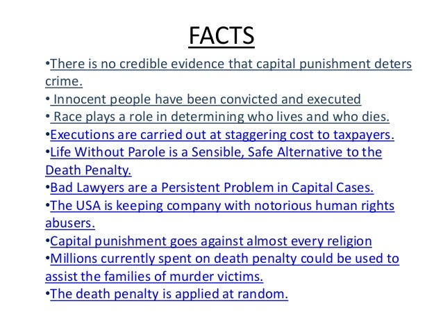 Death Penalty Persuasive Essay Outline
