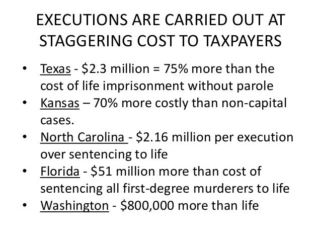 Death penalty vs. life sentence vs. jail time with parole?