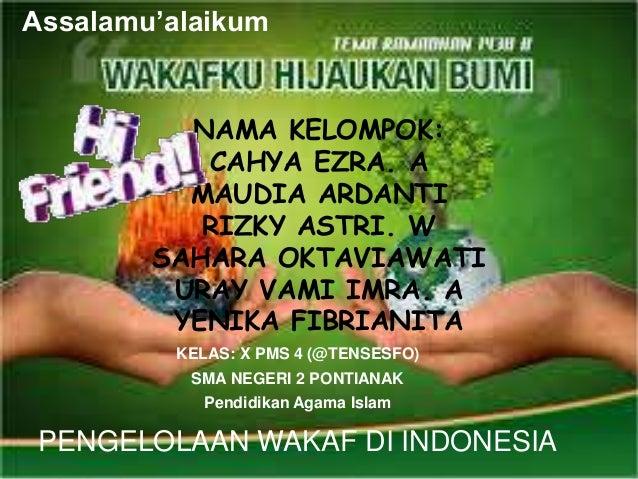pengelolaan wakaf di indonesia