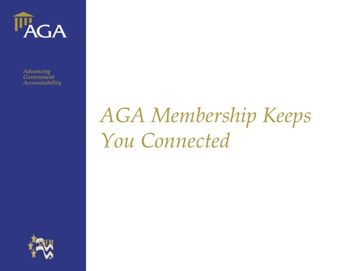 General title AGA Membership Keeps You Connected